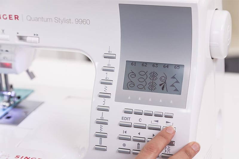 Singer Quantum Stylist 9960 display