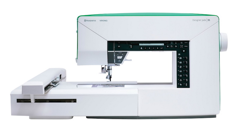 Husqvarna Viking sewing and embroidery machine on a white background