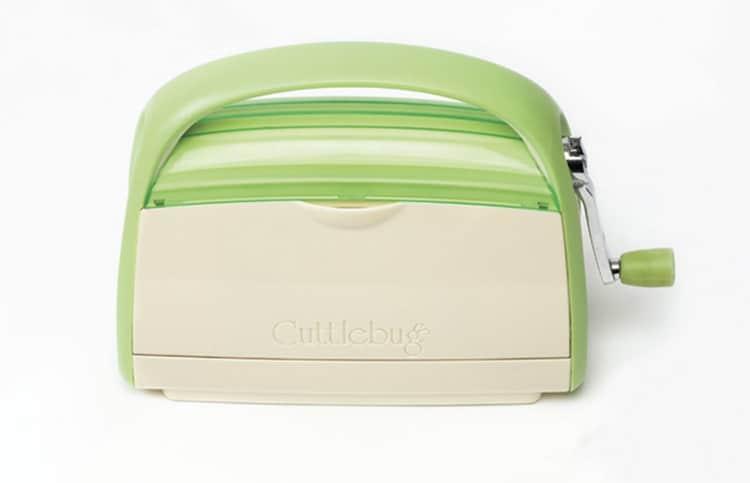 Cricut Cuttlebug machine on a white background
