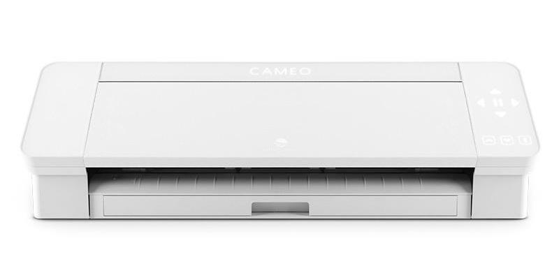 Silhouette Cameo 4 machine on a white background