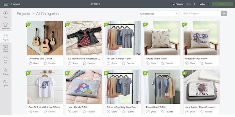 Cricut Design online shop