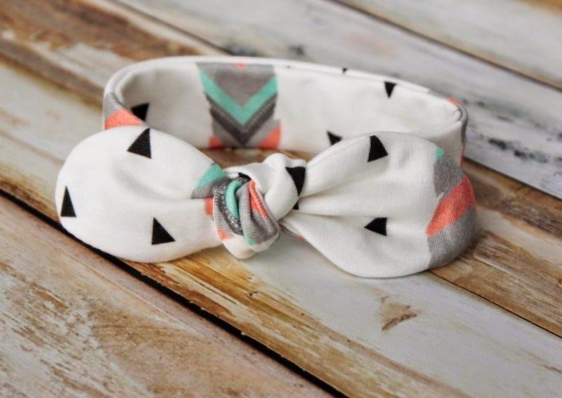 geometric pattern baby knot headband
