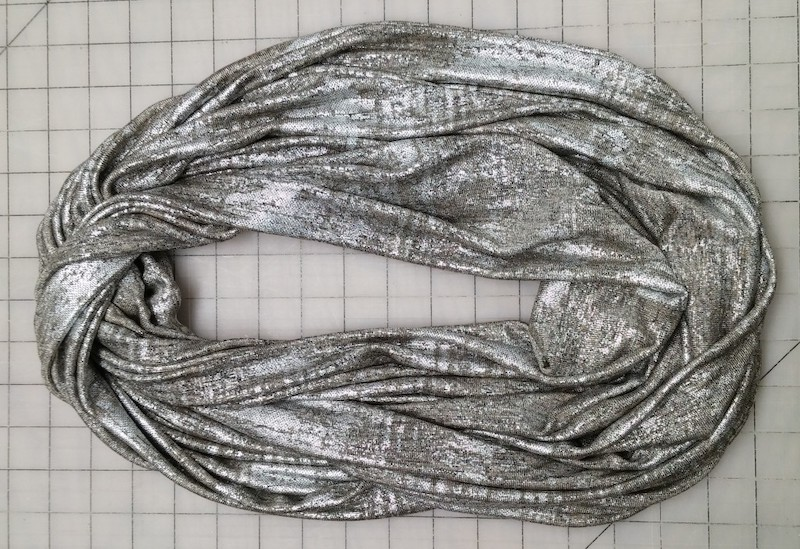 metallic color infinity scarf