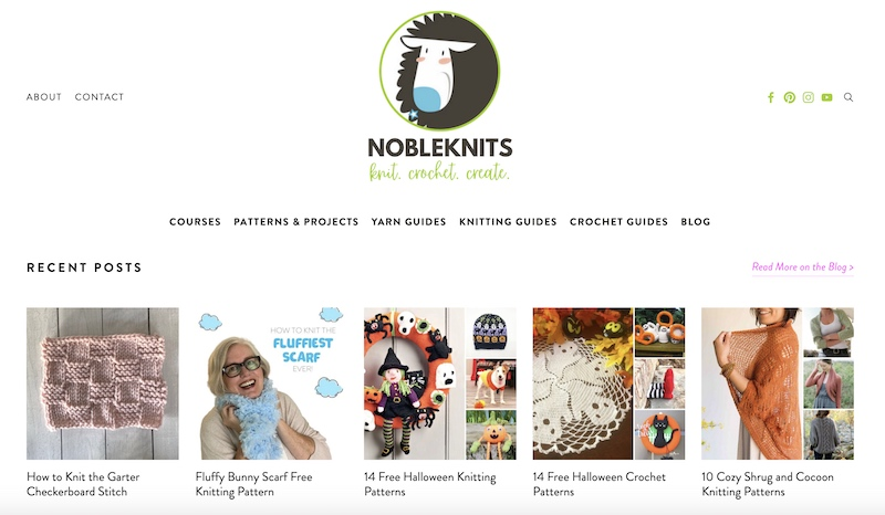 Noble Knits knitting blog home page