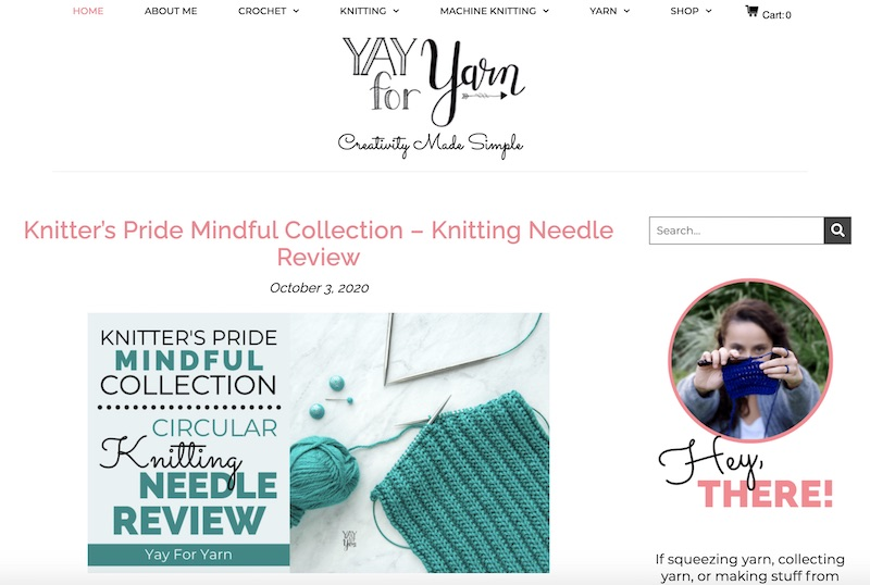 Yay for Yarn knitting blog home page