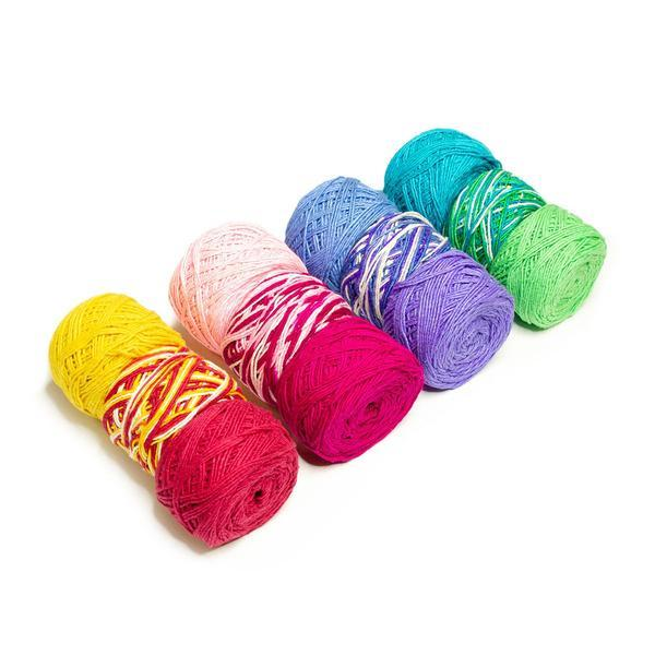 Variegated Worsted Weight Silk Yarn