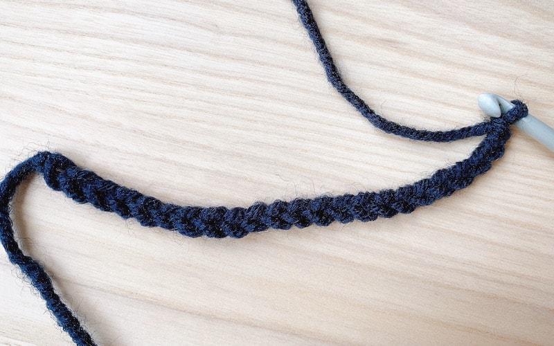 one row crochet