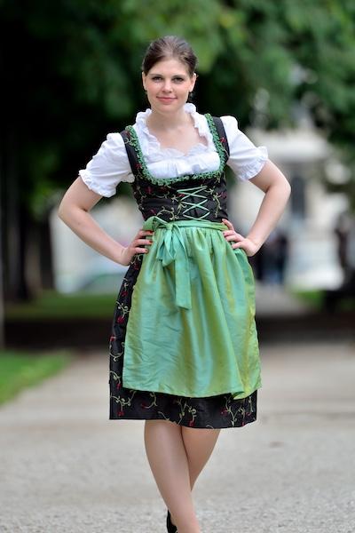 woman wearing a Dirndl dress