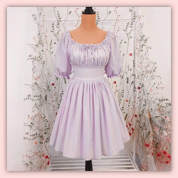 peasant dress on a dress form