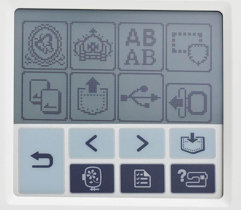 Brother PE770 LCD display