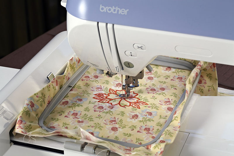 Brother PE770 embroidery area